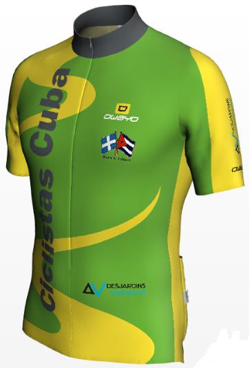 Cycliste Maillot Vert