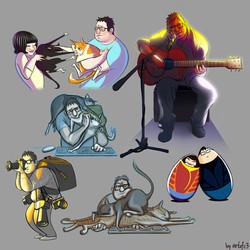 Caricature of Friends 2