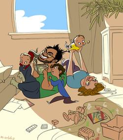 Caricature of Friends 7