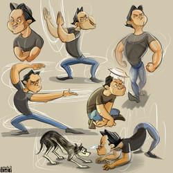 Caricature of Friends 4
