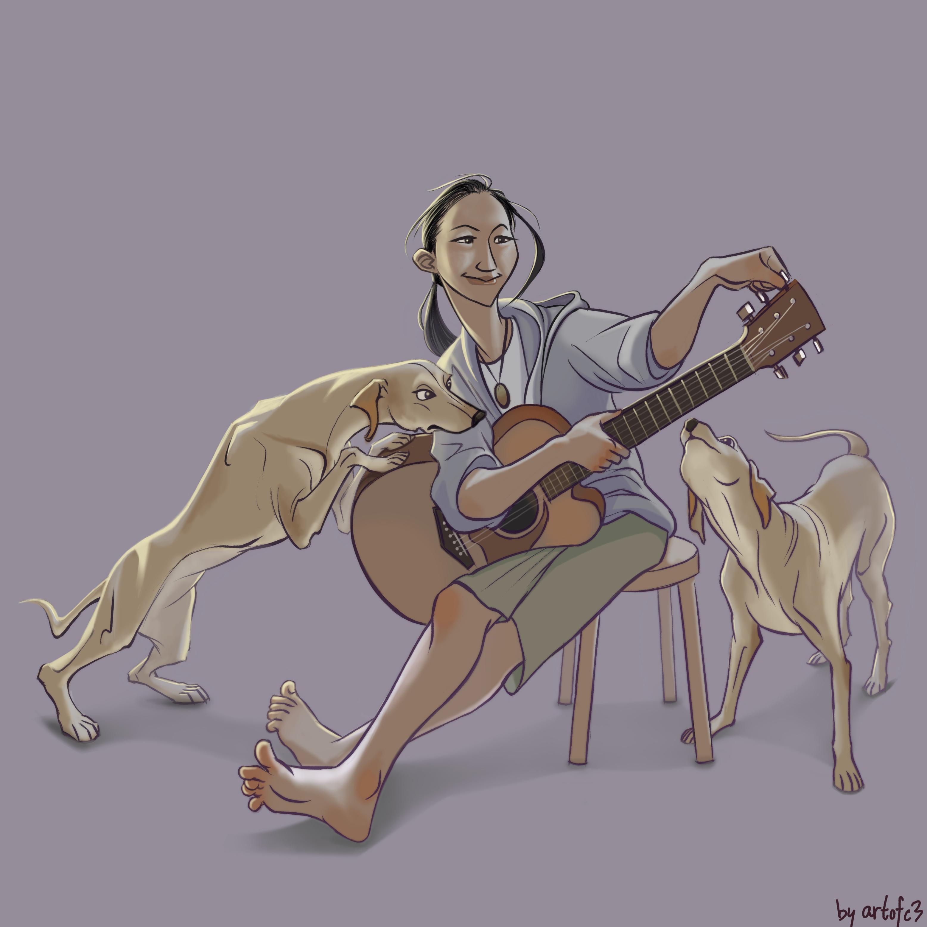 Caricature of Friends 5