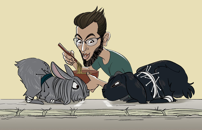 Caricature of Friends 6
