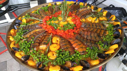 Seafood Paella w/Lobster Tails