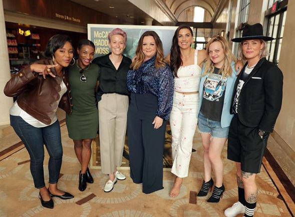 Melissa Mccarthy and the USWNT
