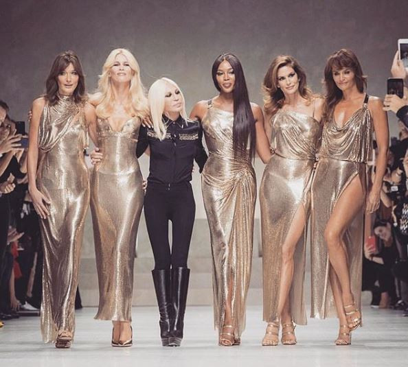 Donatella Versace supermodels
