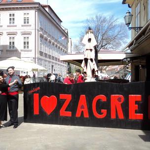 plesači na ulicama, gerila event za Ferratum Bank diljem RH
