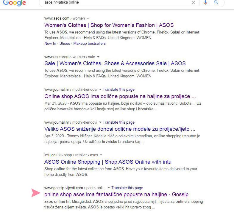 Asos Hrvatska online