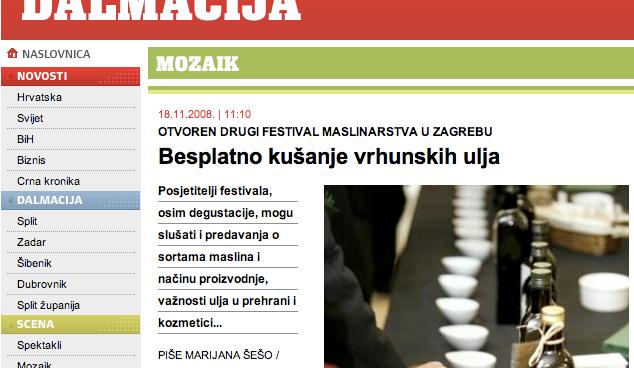 Festival maslinovog ulja PR