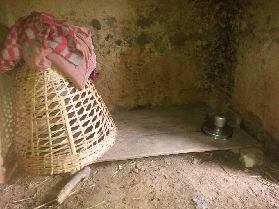 Tulsi's bed during menstruation