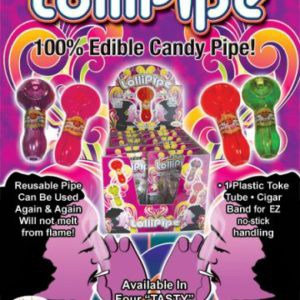 Lollipipe 100% edible candy pipe