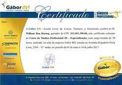 Certificado - Módulo Especialista