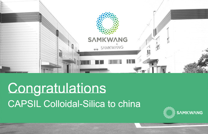 Congratulations CAPSIL Collidal-Silics to china