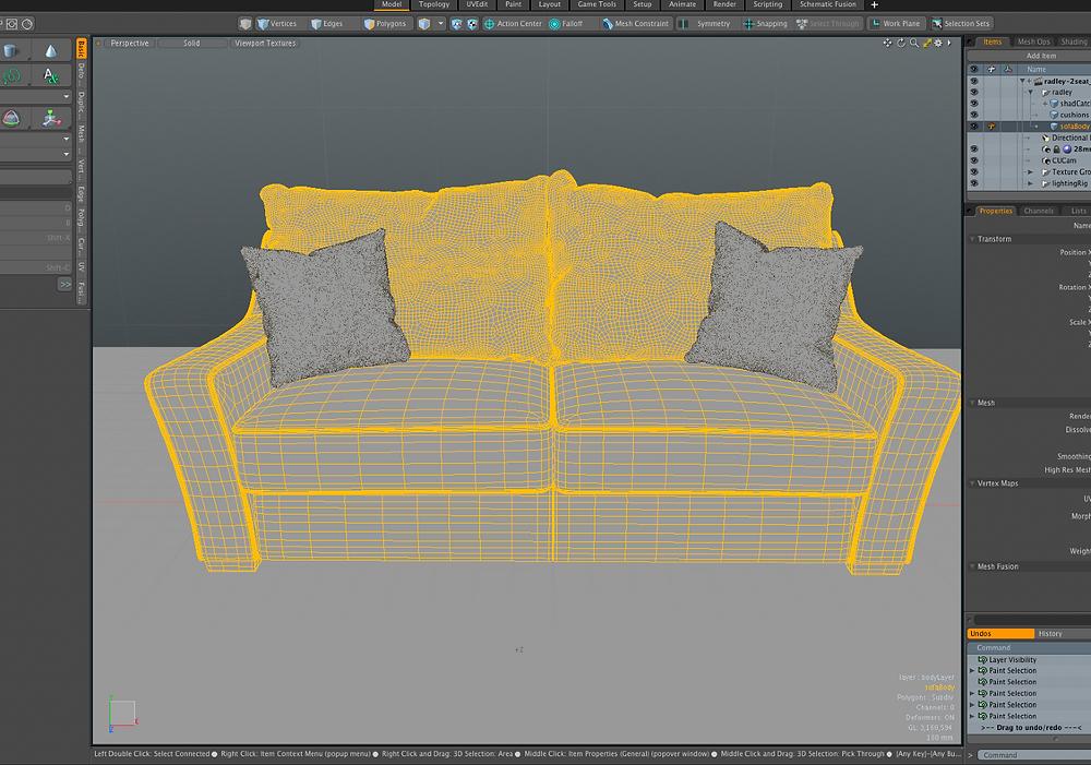 Making a digital sofa