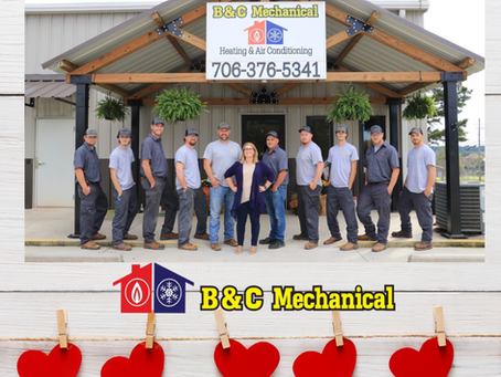 Our team at B&C Mechanical says Happy Valentines Day to our customers, families and friends.