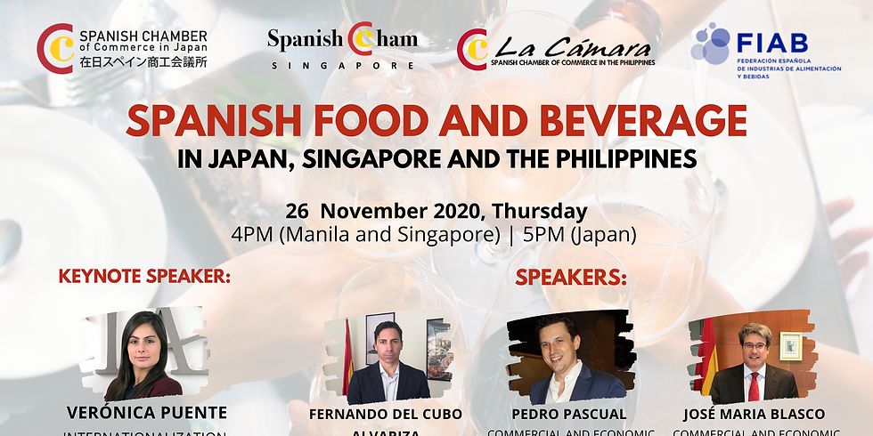 Spanish Food and Beverage in Japan, Singapore and the Philippines