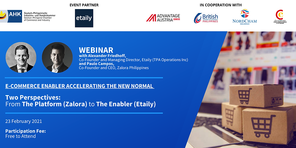 E-Commerce Enabler Accelerating The New Normal - Two Perspectives: From the Platform (Zalora) to the Enabler (Etaily)