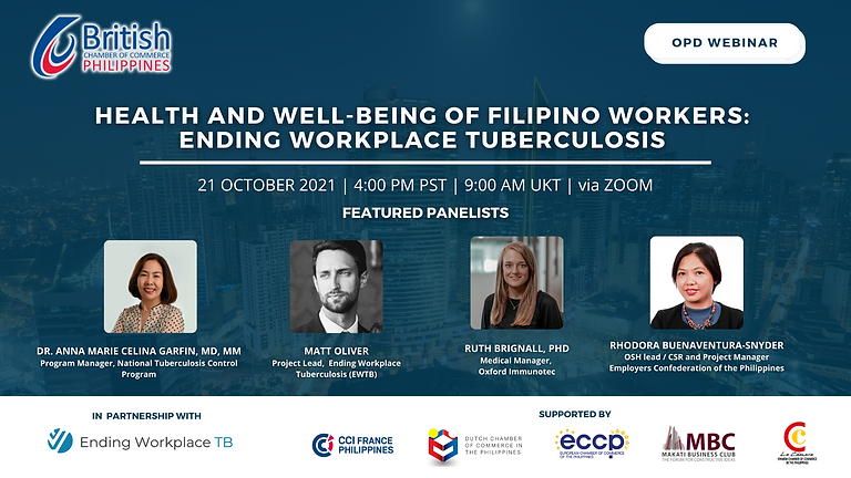 The Health and Well Being of Filipino Workers: Ending Workplace Tuberculosis