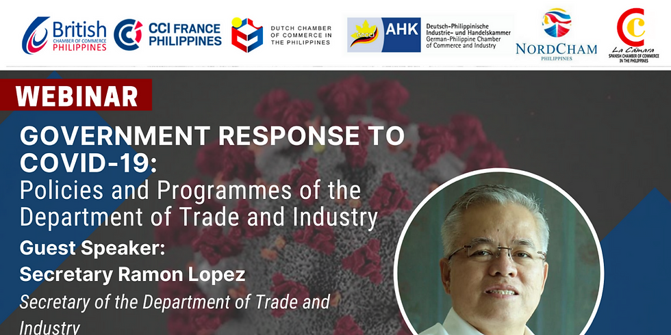 Webinar with Department of Trade and Industry ( DTI ) Sec. Ramon Lopez