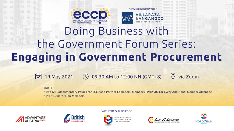 Doing Business with the Government Forum Series: Engaging in Government Procurement