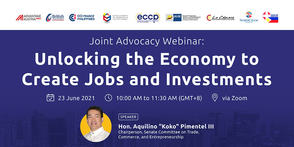 Joint Advocacy Webinar: Unlocking the Economy to Create Jobs and Investments