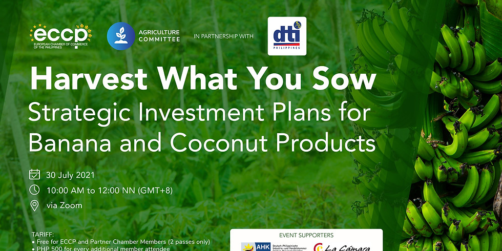 HARVEST WHAT YOU SOW : Strategic Investment Plans for Banana and Coconut Products