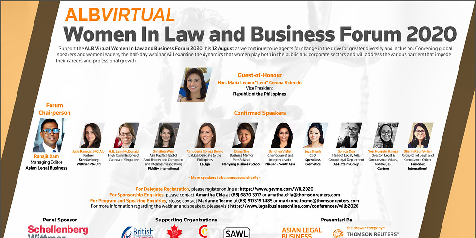 ALB Women In Law and Business Forum Online 2020