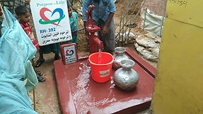 New water well built by Purpose of Life Charity