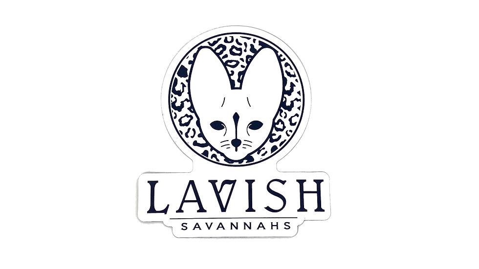 Lavish Savannah's Logo Magnet - White