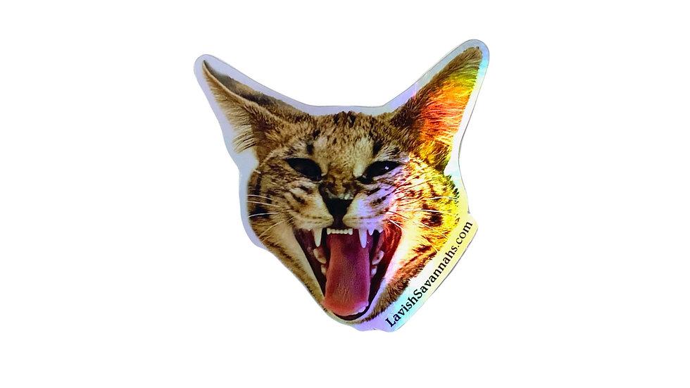 Holographic Savannah Stickers