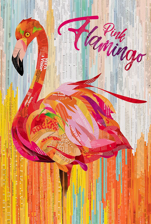 Pink Flamingo - Ltd Ed Print (A3, A2, A1 sizes)