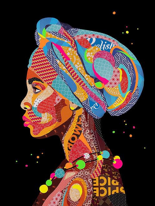 Nzuri (Beautiful) African Woman - Ltd Ed Print (A3, A2, A1 sizes)