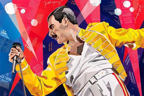 Fabulous Freddie at Wembley Stadium - Ltd Ed Print (A3, A2, A1 sizes)