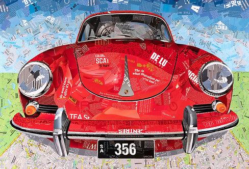 Porsche 356 - Ltd Ed Print (A3, A2, A1 sizes)