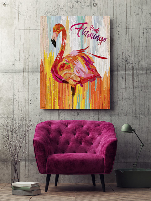 Pink Flamingo by Sue Dowse