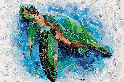 Blue Water Sea Turtle - Ltd Ed Print (A3, A2, A1 sizes)