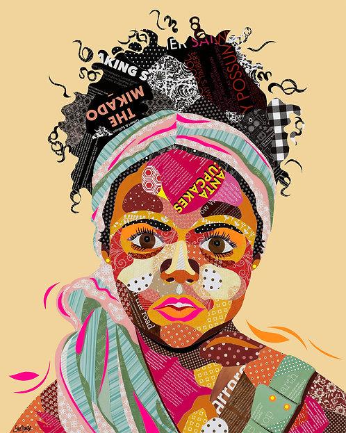 African Girl - Ltd Ed Print (A3, A2, A1 sizes)