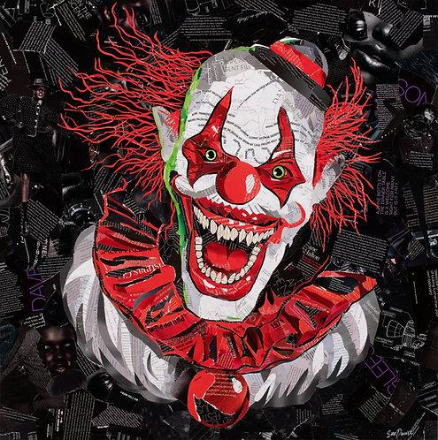 Scary Clown - Ltd Ed Print (40x40, 60x60, 80x80 cm sizes)