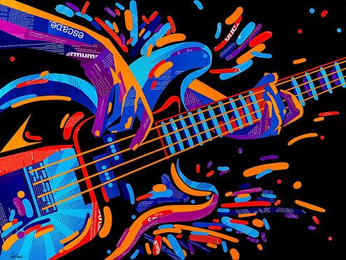 Electric Bass Guitar - Ltd Ed Print (A3, A2, A1 sizes)