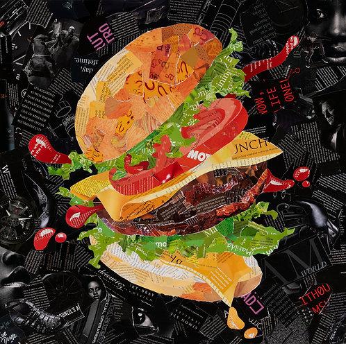 Hamburger with the Lot - Ltd Ed Print (40x40, 60x60, 80x80 cm sizes)