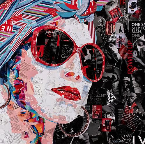 Lady in the Red Sunglasses - Ltd Ed Print (40x40, 60x60, 80x80 cm sizes)