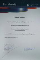 Сертификат о прохождении курса по фармацевтической технологии