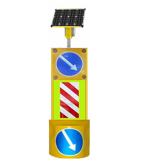 Автономный светодиодный заградительный комплекс для тросовых ограждений