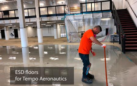 ESD floors for Tempo Aeronautics