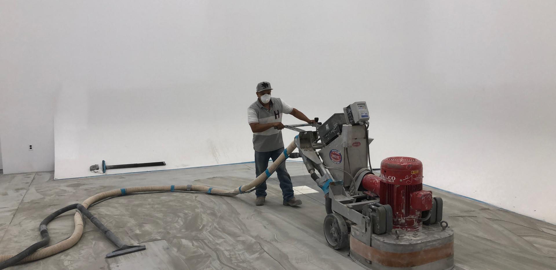 Slab Grinding & Site Preparation