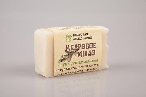 Мыло кедровое ручной работы для тела, лица и  волос обогащенное кунжутным маслом