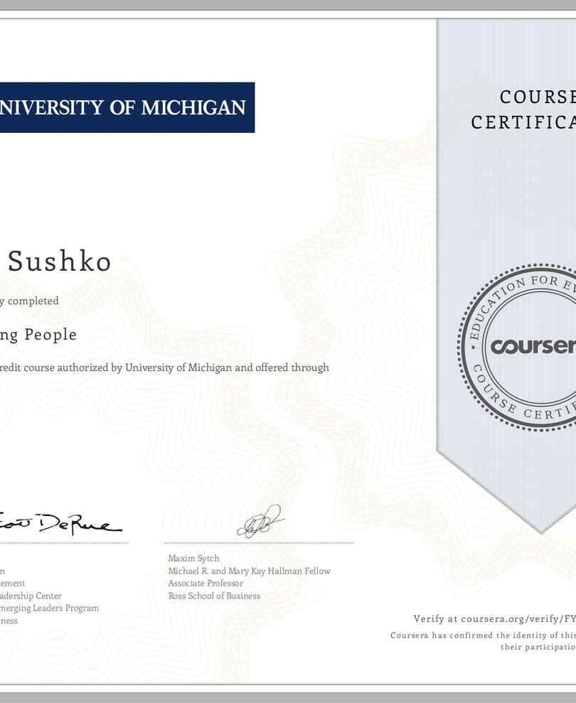 University of Michigan Influencing peopl