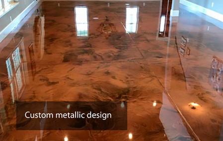 Custom metallic design