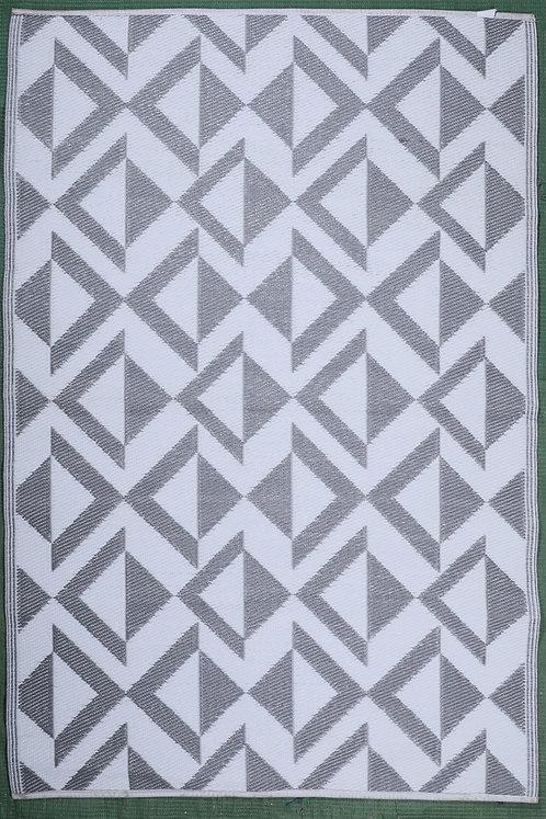 Decor Matrix Gray & White  Area Rug