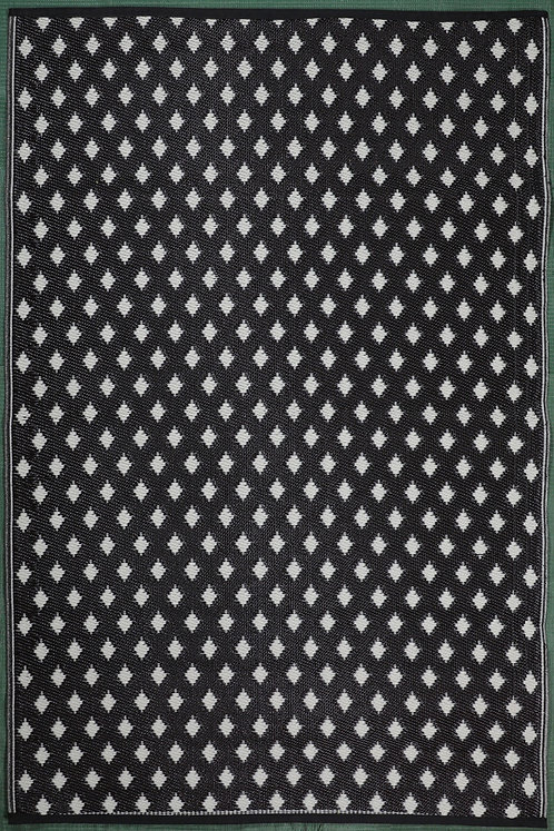 Small Lines Black White Area Rug