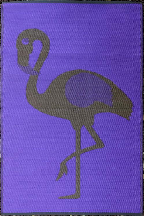 Ostrich Golden & Purple Area Rug